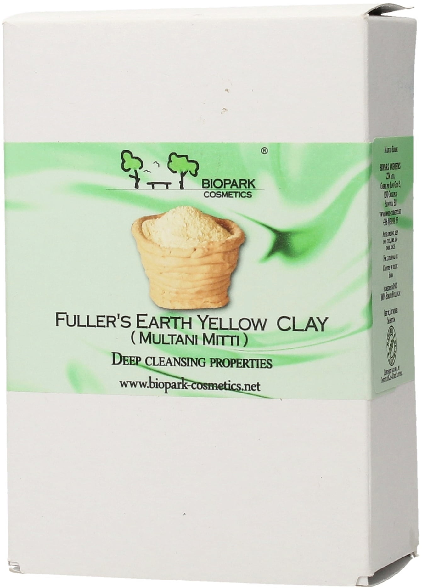 Biopark Cosmetics Fuller's Earth Yellow Clay - 100 g von Biopark Cosmetics