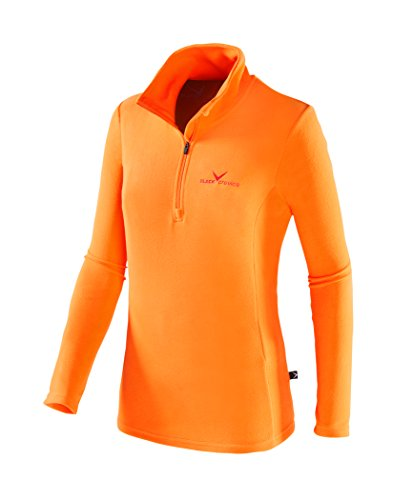 Black Crevice Damen Skirolli, orange/Rot, 40 von Black Crevice