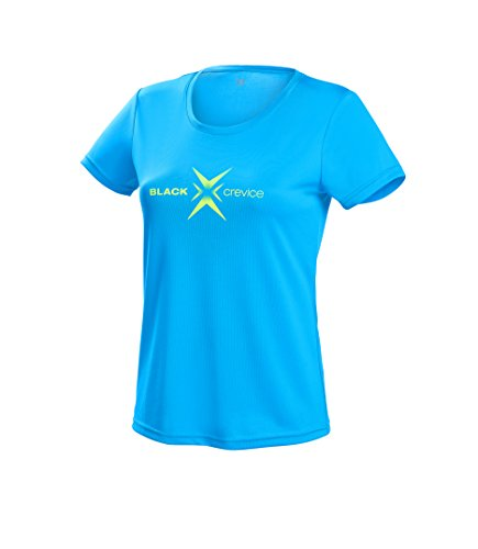 Black Crevice Damen T-Shirt Function, blue1, 38 von Black Crevice