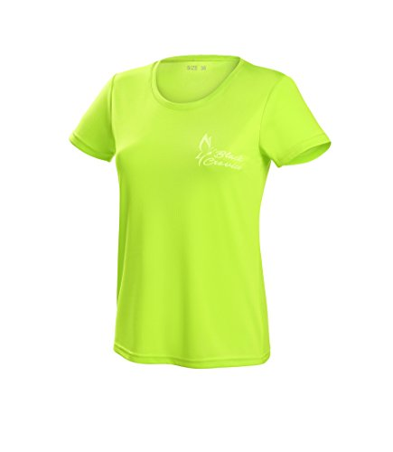 Black Crevice Damen T-Shirt Function, lime1, 42 von Black Crevice