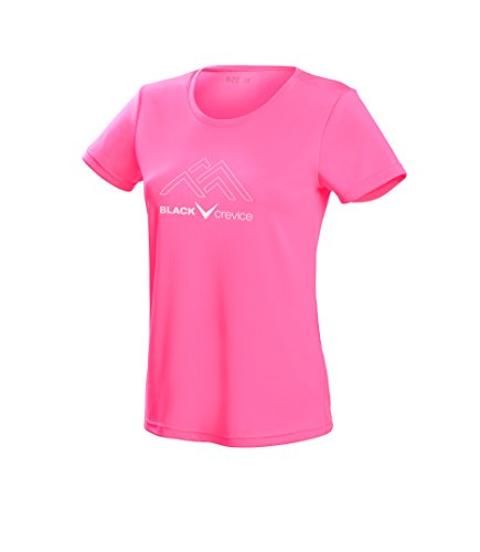 Black Crevice Damen T-Shirt Function, pink2, 42 von Black Crevice