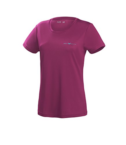 Black Crevice Damen T-Shirt Function, purple3, 40 von Black Crevice