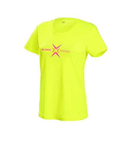 Black Crevice Damen T-Shirt Function, yellow3, 44 von Black Crevice