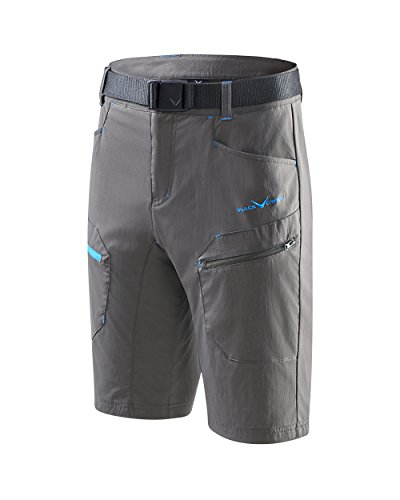 Black Crevice Herren Trekking Shorts, anthrazit, S von Black Crevice