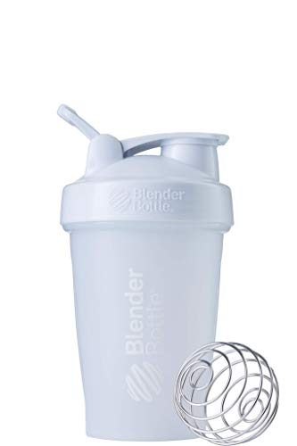 BlenderBottle Classic Loop Shaker/Eiweiß Shaker/Diät Shaker/Protein Shaker mit BlenderBall 590ml, fashion white von BlenderBottle