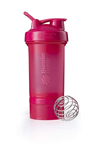 BlenderBottle ProStak Shaker inkl. 2 Containern 150ml & 100ml +1 Pillenfach,650ml,Pink von BlenderBottle