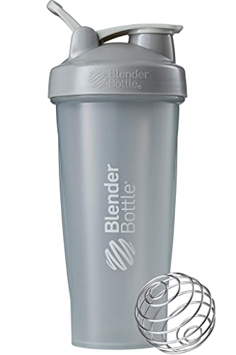 BlenderBottle Classic Loop Shaker/Eiweiß Shaker/Diät Shaker/Protein Shaker mit BlenderBall 940ml - Pebble Grey von BlenderBottle