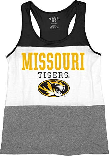Blue 84 NCAA Tri-Blend Panel Tank Top, Unisex-Erwachsene, schwarz, Medium von Blue 84