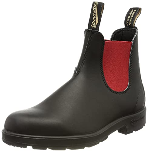 Blundstone Unisex 508 (550 Series) Chelsea Boot, Voltan Black Leather with Red Elastic, 39 EU von Blundstone