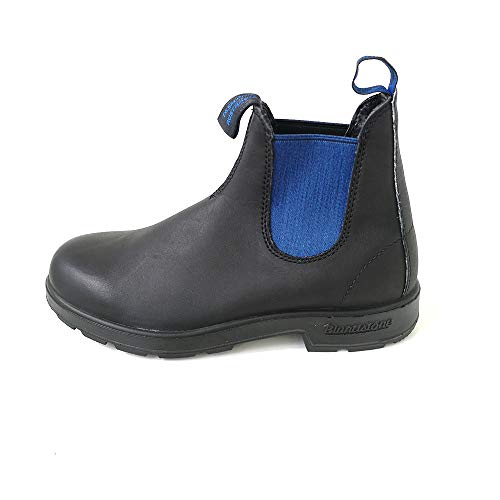 Blundstone Unisex 515 (500 Series) Chelsea Boot, Voltan Black Leather with Blue Elastic, 44 EU von Blundstone
