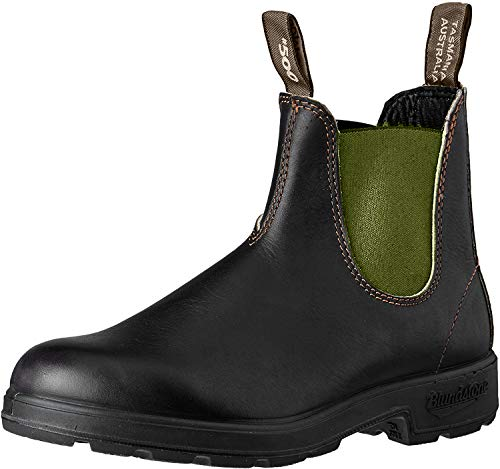 Blundstone Unisex 519 (500 Series) Chelsea Boot, Stout Brown Leather with Olive Elastic, 44 EU von Blundstone