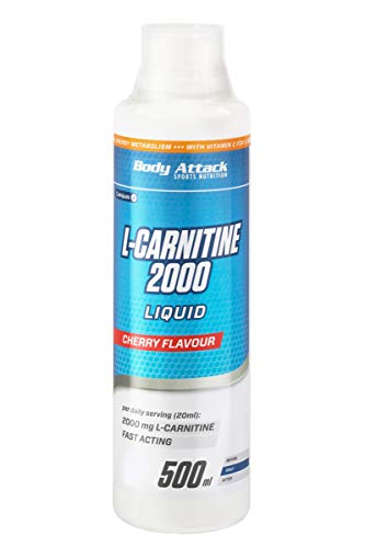 Body Attack L-Carnitine Liquid 2000mg pro Portion -vegan, flüssig & hochdosiert - Cherry (1 x 500ml) von Body Attack Sports Nutrition