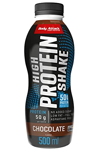 Body Attack Low Carb Protein Shake, Milch-Eiweiß, Fertigdrink in 500ml Flasche, Chocolate (6 x 500ml) von Body Attack Sports Nutrition
