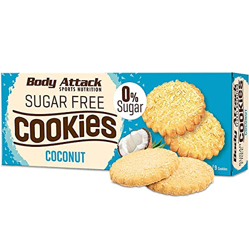 Body Attack Low Sugar Cookies 150g - Coconut - Diätkekse - Low Carb von Body Attack