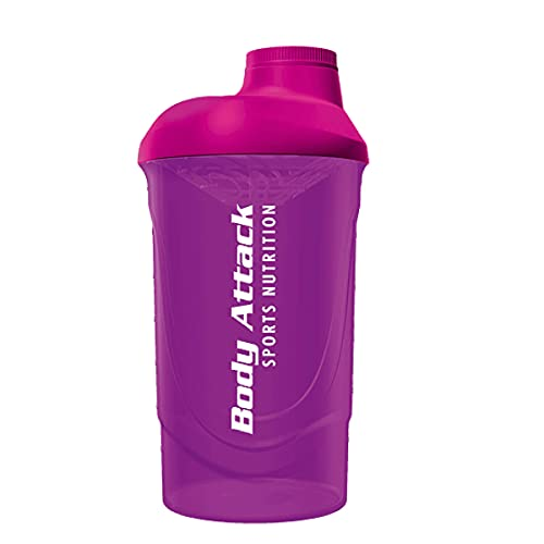 Body Attack Protein Shaker, 600 ml Fassungsvermögen (Pink) von Body Attack Sports Nutrition