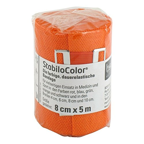 BORT StabiloColor Binde 8cm orange 1 St Bandage von Bort