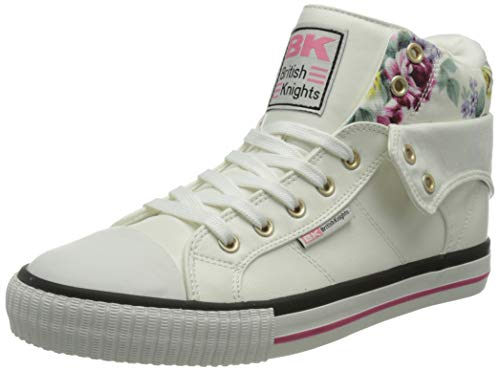 British Knights Damen ROCO Sneaker, Weiss Geblümt, 37 EU von British Knights