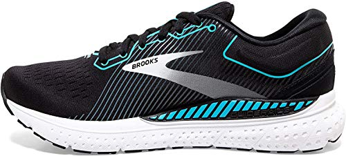 Brooks Damen Transcend 7 Laufschuh, Black/Ebony/Blue Bird, 38 EU von Brooks