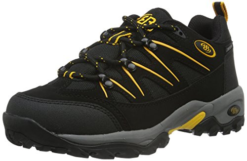 Bruetting MOUNT HUNTER LOW, Unisex-Erwachsene Trekking- & Wanderschuhe, Schwarz (SCHWARZ/GELB), 47 EU (13 Erwachsene UK) von Bruetting