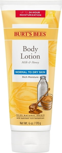 Burt's Bees Milk & Honey Naturally Nourishing Body Milk - 175 ml von Burt's Bees