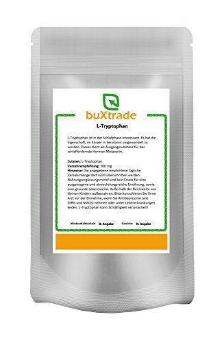 250 g Tryptophan Pulver – Tryptophane | L-Tryptophan | Fitness | Sport | Schlaf von Buxtrade