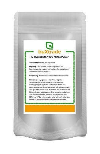 1 kg Tryptophan Pulver – Tryptophane | L-Tryptophan | Fitness | Sport | Schlaf von Buxtrade