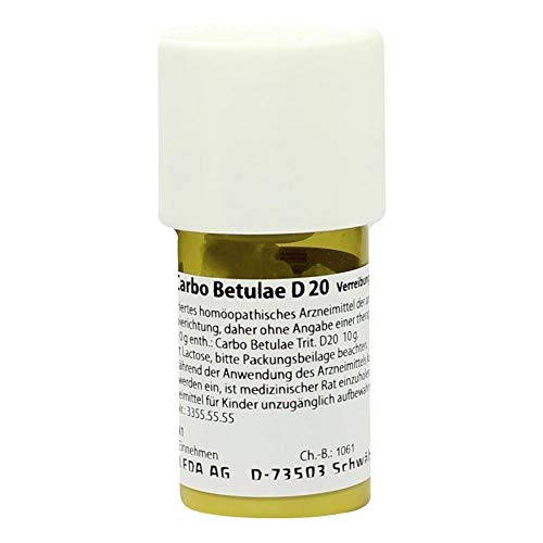 CARBO BETULAE D 20 Trituration 20 g Trituration von CARBO