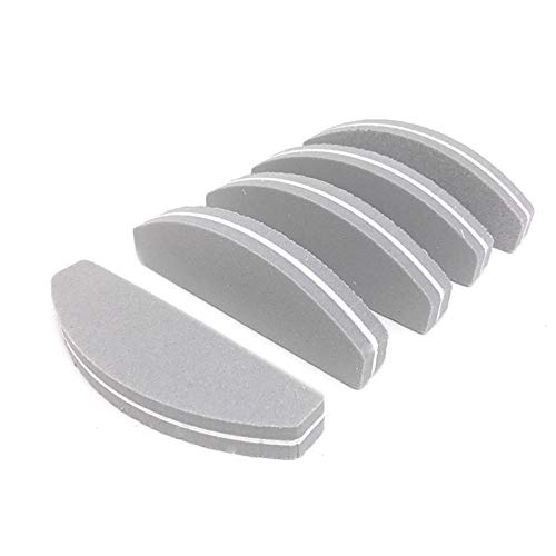10 teile/paket 100/180 grit nagel files waschbar doppelseite emery board nail puffering files salon manicure tools CHAOCHAO (Farbe : Gray) von CHAOCHAO