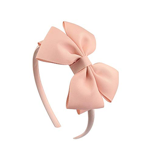 Mädchen Mode 4 Zoll Stirnband Polyester 20 Farben Haarband mit Grosgrain Ribbon Bug Hairbands CHAOCHAO (Farbe : Color8) von CHAOCHAO