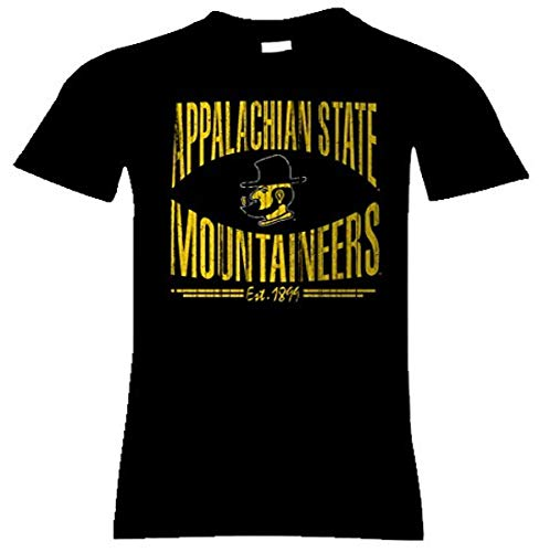 CI Sport NCAA Appalachian State Mountaineers Nome Women's Long Body Classic Tee, X-Large, Black von CI Sport