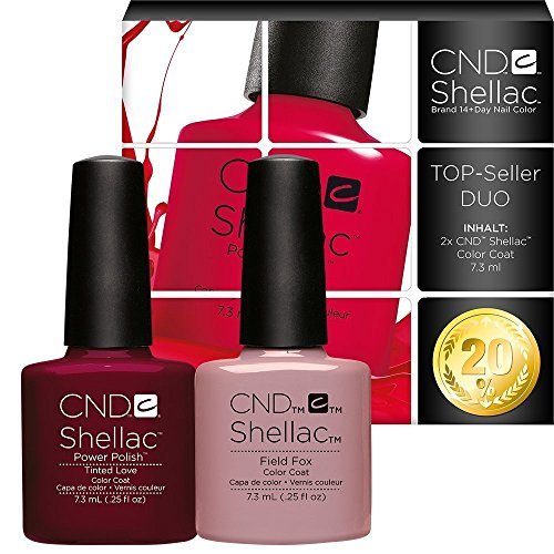 CND Shellac UV/LED Power Polish, getöntes Love/Field Fox 7,3 ml – 2 Stück von CND