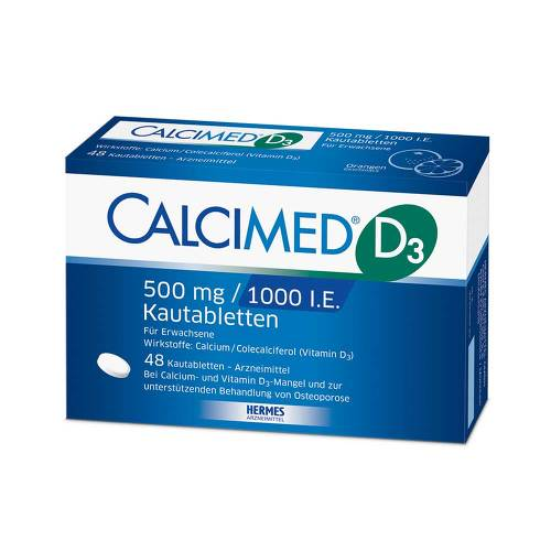 Calcimed D3 500 mg / 1000 I.E. Kautabletten von Calcimed