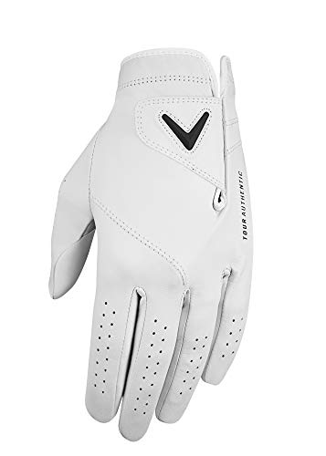 Callaway Golf 2019 Herren Premium Tour Authentischer Linkshand-Golfhandschuh White Small von Callaway