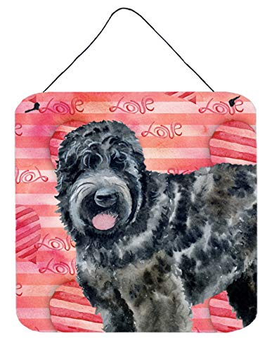 Caroline 's Treasures Black Russian Terrier Love Metall Print, Multicolor, 6h X 6 W von Caroline's Treasures