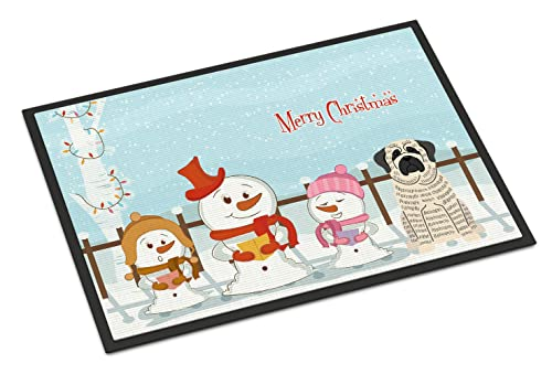 Caroline's Treasures Merry Christmas Carolers Mastiff Brindle White Indoor or Outdoor Mat 24x36 BB2347JMAT 24 x 36 Multicolor von Caroline's Treasures