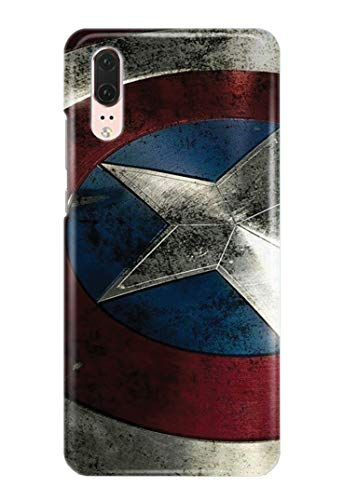 Case Me Up Handy Hülle für Huawei P20 Captain America Steve Rogers Superhero Marvel Comics 9 Designs von Case Me Up