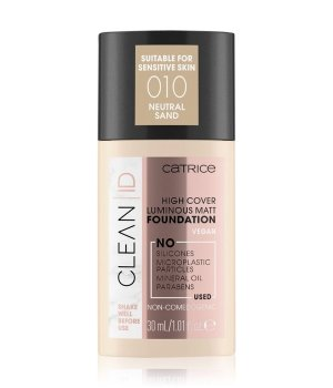 Catrice Clean ID High Cover Luminous Matt Flüssige Foundation  30 ml Neutral Sand von Catrice