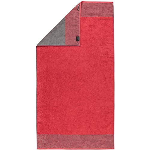 Cawö Luxury Home Duschtuch TWO-TONE | 27 rot - 80 x 150 von Cawö