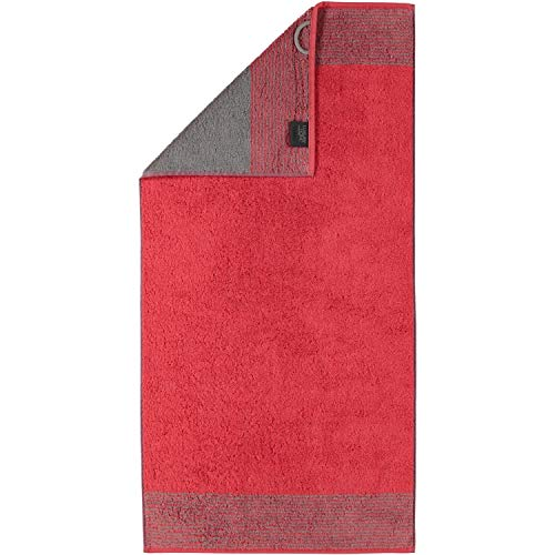 Cawö Luxury Home Handtuch TWO-TONE | 27 rot - 50 x 100 von Cawö
