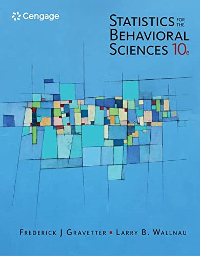 Statistics for The Behavioral Sciences (Mindtap for Psychology) von Cengage Learning, Inc