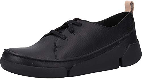 Clarks Damen Tri Clara Derbys, Schwarz (Black Leather), 35.5 EU von Clarks