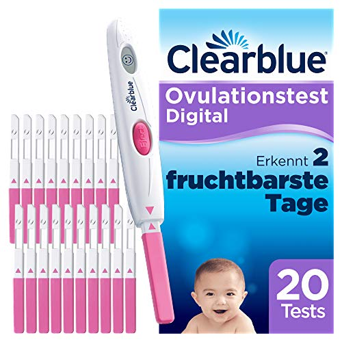 Clearblue Ovulationstest Digital, 20 Tests, 1er Pack (1 x 20 Stück) von Clearblue