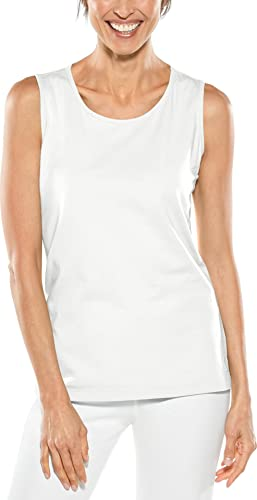 Coolibar Damen Regulär Tank UPF 50 Plus Top, Weiß, L von Coolibar