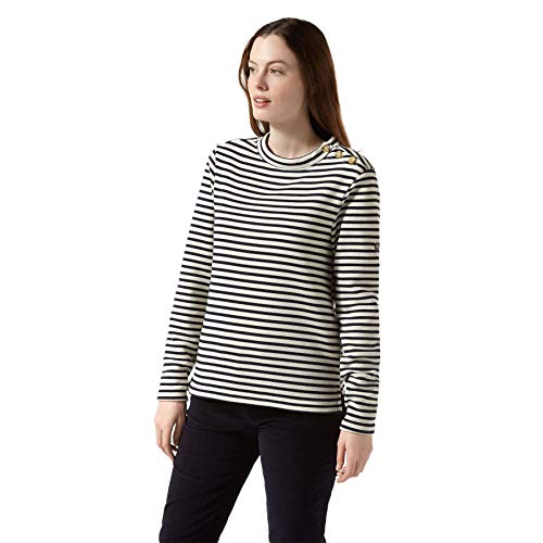 Craghoppers Damen Balmoral Crew Neck Sweatshirt, Calico/Blue Navy, 42 von Craghoppers