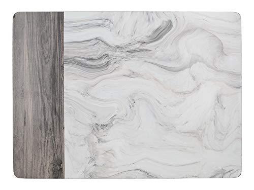 30 x 23 cm Braun 6er Set Creative Tops Wood Cabin Premium-Tischsets mit Korkboden