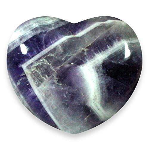 Chevron Amethyst Crystal Heart - 4.5cm by CrystalAge von CrystalAge