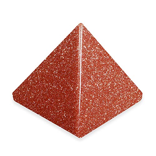 Red Goldstone Pyramid - YGR2 - Mini by CrystalAge von CrystalAge