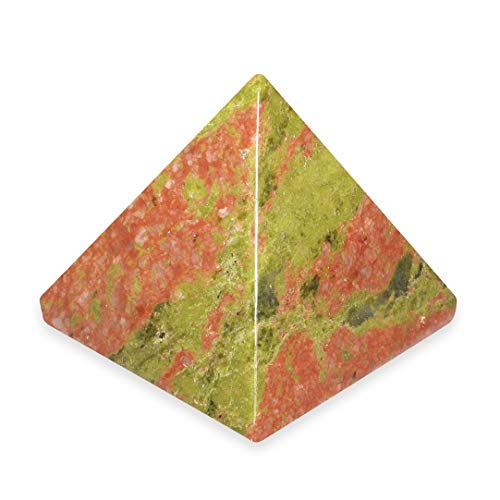 Unakite Pyramid - YUN2 - Mini by CrystalAge von CrystalAge
