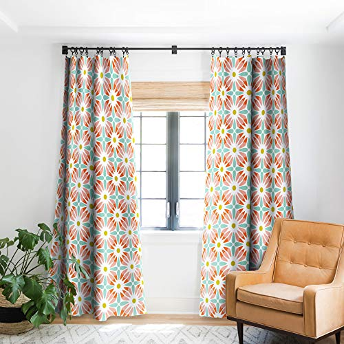"Deny Designs Heather Dutton Crazy Daisy Sorbet Verdunklungsvorhang für Fenster, 127 x 213,4 cm, Blau 50"" x 84"" Blackout von DENY Designs"