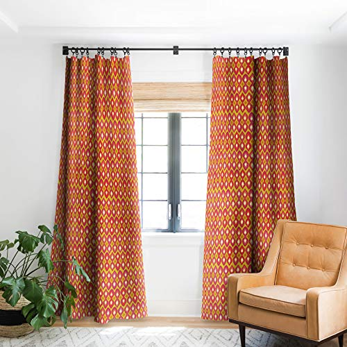 "Deny Designs Shanon Turner Party Boardwalk Ikat Verdunklungsvorhang 127 x 213,4 cm, Orange 50"" x 96"" Blackout von DENY Designs"